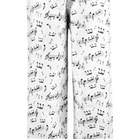 Leisureland Women's Cotton Flannel Music Notes Sleep Pants