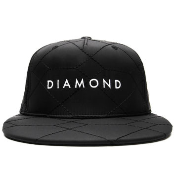 Diamond Supply Co. - Stone Cut Quilted Snapback Cap (Black)