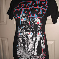 Vintage Star Wars Tshirt .. Size Small .. Black with graphics tee