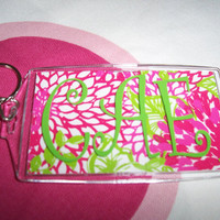 Monogrammed Acrylic Key Chain with Lilly Pulitzer by HomeLush