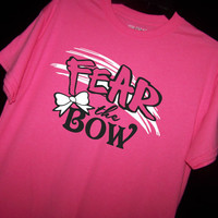 FEAR THE BOW T Shirt Cheerleading Shirt