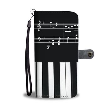 Musical Piano Wallet Phone Case