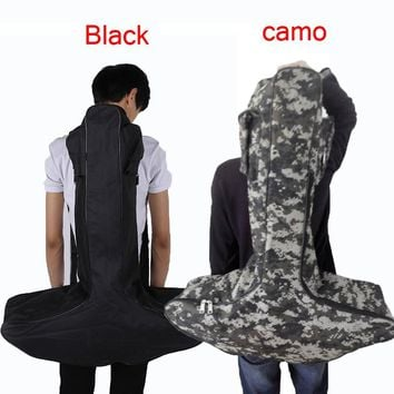 Hunting Archery Shooting Portable  Lightweight T Shaped Crossbow Bag Case Backpack Pouch Gun Scabbard for Outdoor Black/camo