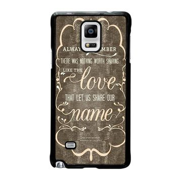 THE AVETT BROTHERS QUOTES Samsung Galaxy Note 4 Case Cover