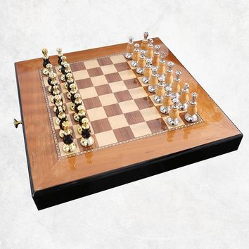 Top Quality Mental-Wooden Chess Set