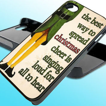 Christmas Elf for iPhone 4/4s Case - iPhone 5 Case - Samsung S3 - Samsung S4 - Black - White (Option Please)