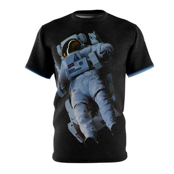 Astronaut Drifting in Space | Unisex AOP Cut & Sew Tee
