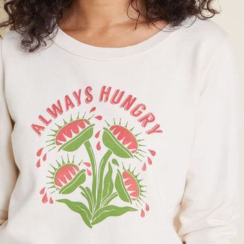 Venus Fly Snack Graphic Pullover