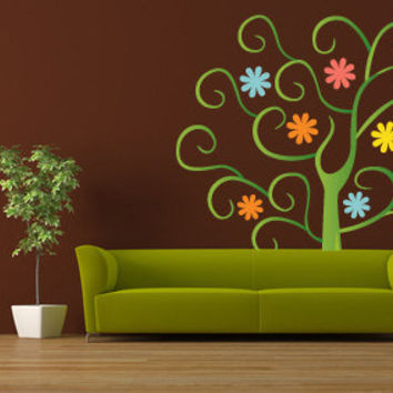 Sweet Tree ACCENT WALL SKIN wall decal. Looks just like paint. Not vinyl or stickery. Easy apply. Beautiful.