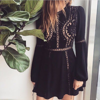 ♡ Casual Mini O-Neck Short A Line Dress ♡