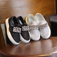 Comfort On Sale Hot Sale Hot Deal Children Rhinestone Casual Shoes Korean Permeable Stylish Sneakers [4920340740]