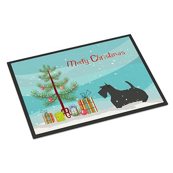 Scottish Terrier Merry Christmas Tree Indoor or Outdoor Mat 24x36 BB2987JMAT