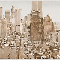 Philip Pearlstein: View over Soho, Lower Manhattan, 1977-78. Fine Art Print.