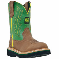 John Deere Kid's Youth Johnny Popper Boots Green