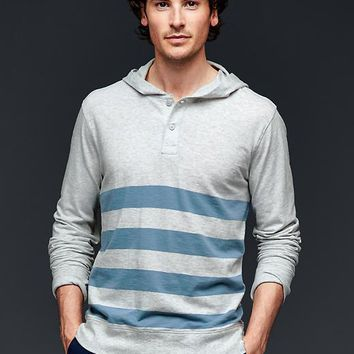 Gap Men Lived In Hooded Stripe Henley