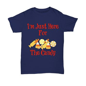I'm Just Here For The Candy Novelty Halloween T-Shirt Halloween Gifts