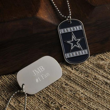 Personalized NFL Dog Tag - Cowboys