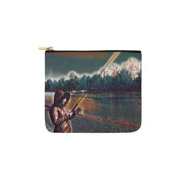 Levi Thang Fishing Design 6 Carry-All Pouch 6''x5''
