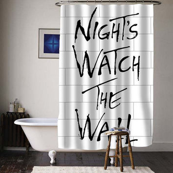 night watch the wall special custom shower curtains available size