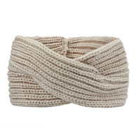 Turban Ear Warmer Headband - Beige