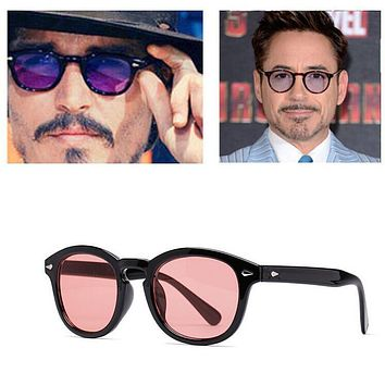 JinCool Super Star Sunglass Men 2016 Vintage Fashion Sunglasses Women Brand Designer Johnny Depp Rivet Sun Glasses Oculos de sol