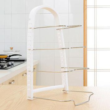 Utensils Four Layers Cookware Shelf Rack