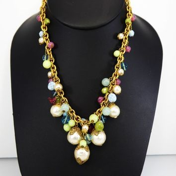 Best Vintage White Glass Bead Necklace Products on Wanelo 5741403660