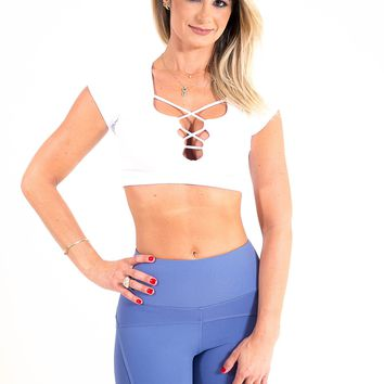 Twisted Fitness Top - White