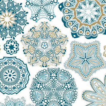 Blue Green Pattern Backdrop - 8148