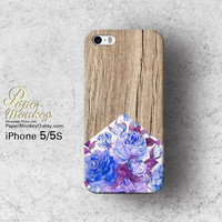 Purple Antique floral wood pattern / not real wood, Unique Decoupage case, Samsung galaxy S4, iPhone 5/5S, iPhone 4/4S, iPhone 3Gs case.