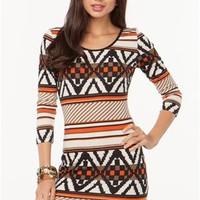 A'GACI Tribal Hacci Bodycon Dress - DRESSES
