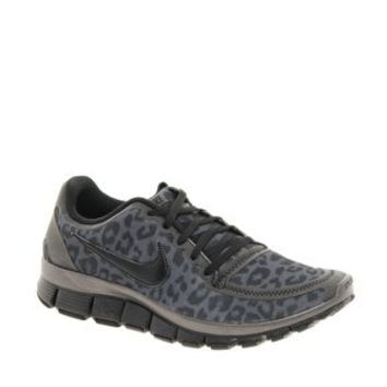 Nike Free Running 5.0 V4 Grey Leopard Performance Trainers at asos.com