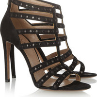 Alaïa Suede and leather sandals – 50% at THE OUTNET.COM