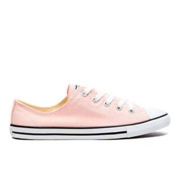 ICIKHD9 Converse Women's Chuck Taylor All Star Dainty Trainers - Vapor Pink/Black/White