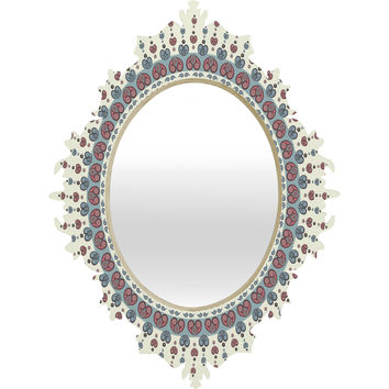 Belle13 Paisley Mandala Love Baroque Mirror