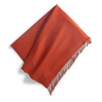 Windsor Cashmere Throw | Orange