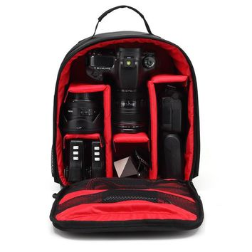 Digital Camera Shoulders Padded Backpack Bag