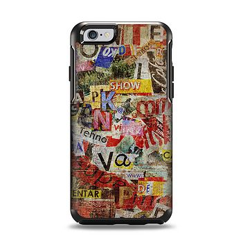 The Torn Newspaper Letter Collage V2 Apple iPhone 6 Otterbox Symmetry Case Skin Set