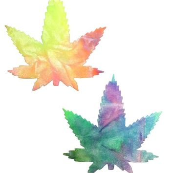 Weed Pasties in Bubble Tie Dye Velvet