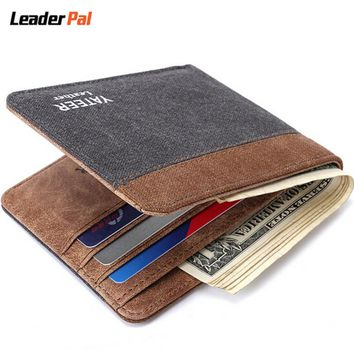 Thin Wallet High Quality Canvas Small Slim  Men's Wallets