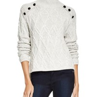 Townsen Valley Button Detail Cable Sweater | Bloomingdales's