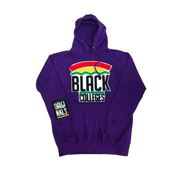Originals Support Black Colleges Hoodies in Purple