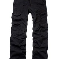 Match Men's Ranger Work Wear Utility Cargo Pants #6325(US 30 (Tag size L/32),Black)
