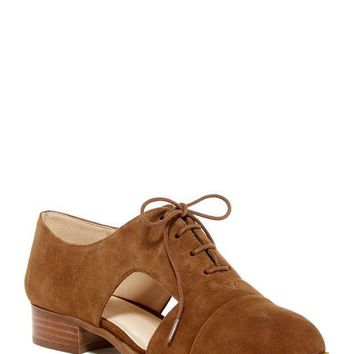 Nine West | Suede Cut-Out Lace Oxford | Nordstrom Rack