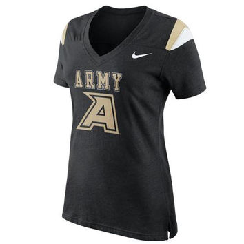 Nike Army Black Knights Fan Top V-Neck T-Shirt - Black