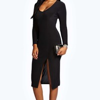 Ruth Slinky Plunge Midi Dress