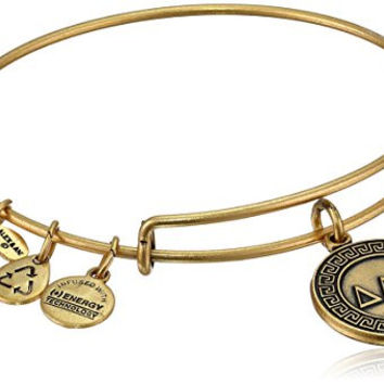 "Alex and Ani ""Sorority"" Delta Expandable Rafaelian Gold Finish Wire Bangle Bracelet"