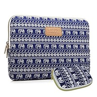 Kayond KY-23 Canvas Fabric Sleeve for 10-Inch Laptops - Elephant Patterns