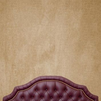 Maroon Wine Bed Tufted Headboard Printed Backdrop - 6209