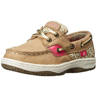 Sperry Girls Bluefish Leather Leopard Boat Shoes